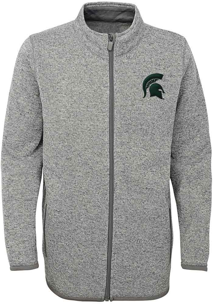 188f888dad3c8 Michigan State Spartans Youth Grey Lima Medium Weight Jacket