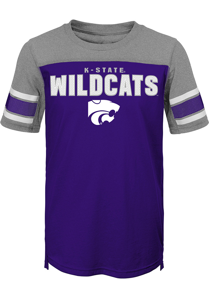 K-State Wildcats Youth Purple 50 Yard Dash Short Sleeve Fashion T-Shirt - Image 1