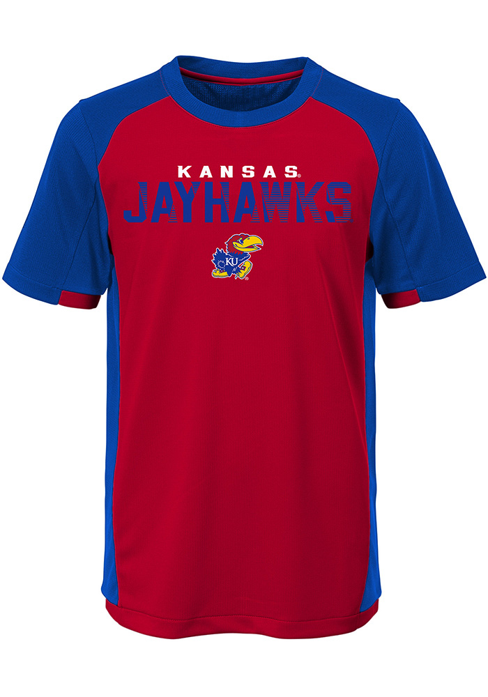 Kansas Jayhawks Youth Blue Circuit Breaker Short Sleeve T-Shirt - Image 1