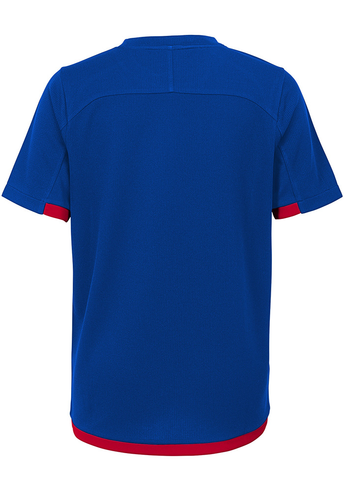 Kansas Jayhawks Youth Blue Circuit Breaker Short Sleeve T-Shirt - Image 2