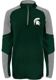 Michigan State Spartans Boys Green Beta Long Sleeve 1/4 Zip Pullover