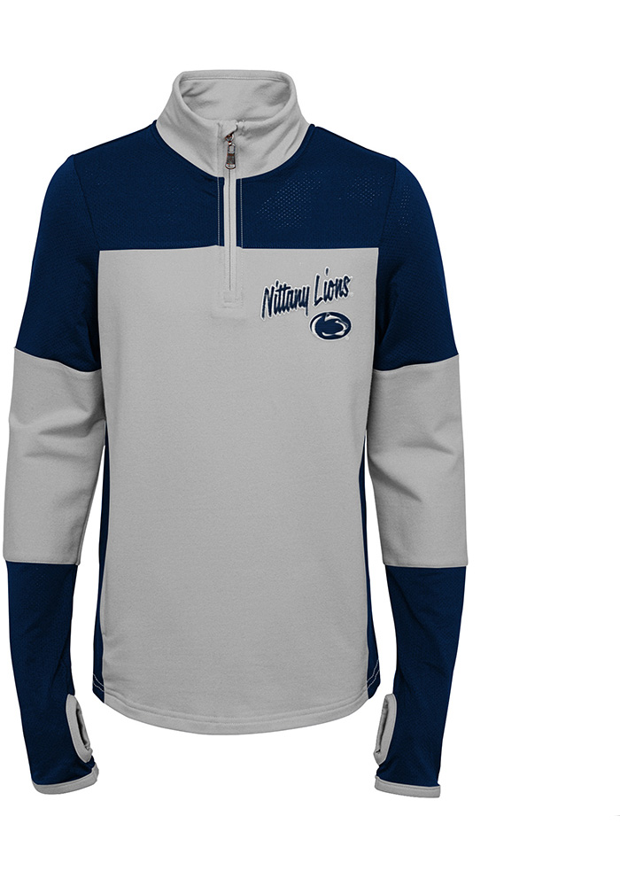 Penn State Nittany Lions Girls Navy Blue Frequency LS Tops 1/4 Zip - Image 1