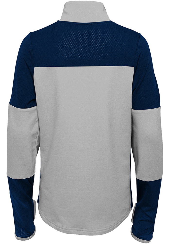 Penn State Nittany Lions Girls Navy Blue Frequency LS Tops 1/4 Zip - Image 2