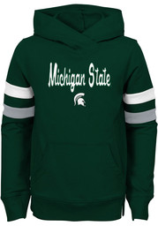 Michigan State Spartans Girls Green Claim to Fame Long Sleeve Hooded Sweatshirt