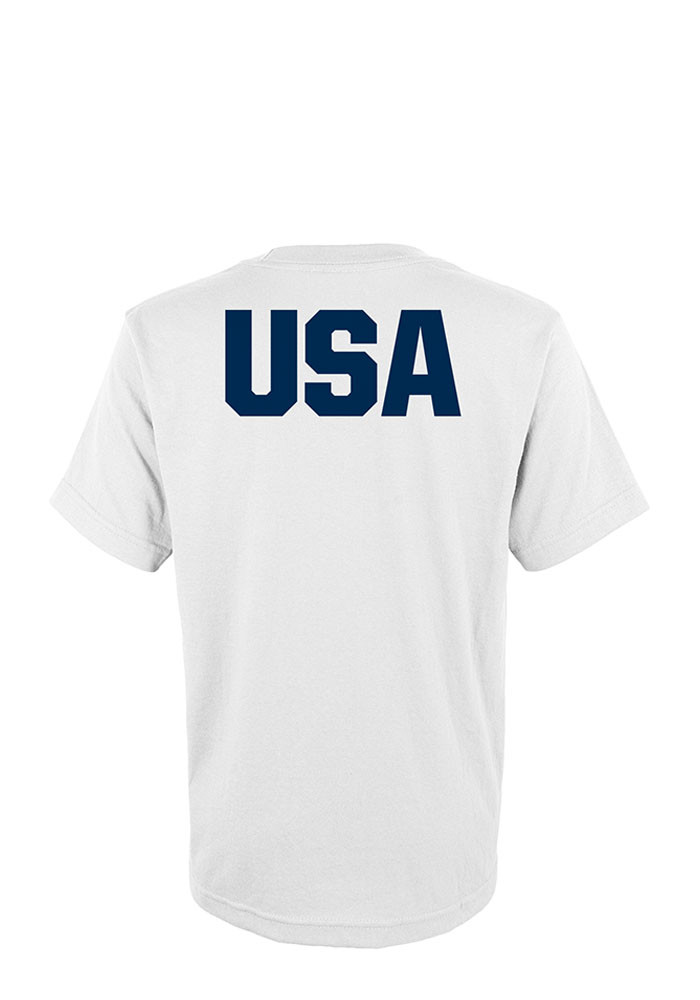 USA Flag and Olympic Rings Short Sleeve Mens T-Shirt - Image 2