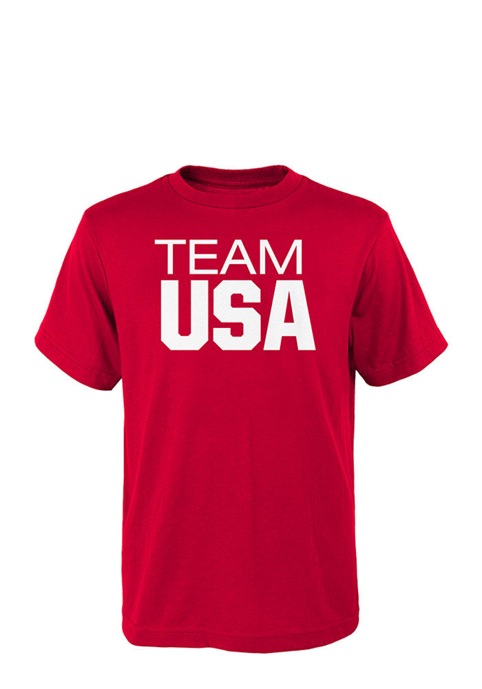 Team USA Mens Red Pride Short Sleeve T Shirt - Image 1