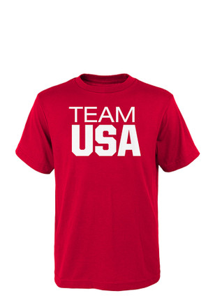 Team USA Mens Red Pride Tee