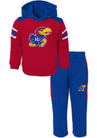 Kansas Jayhawks Infant Touch Down Top and Bottom - Blue