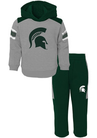 Michigan State Spartans Infant Touch Down Top and Bottom - Green
