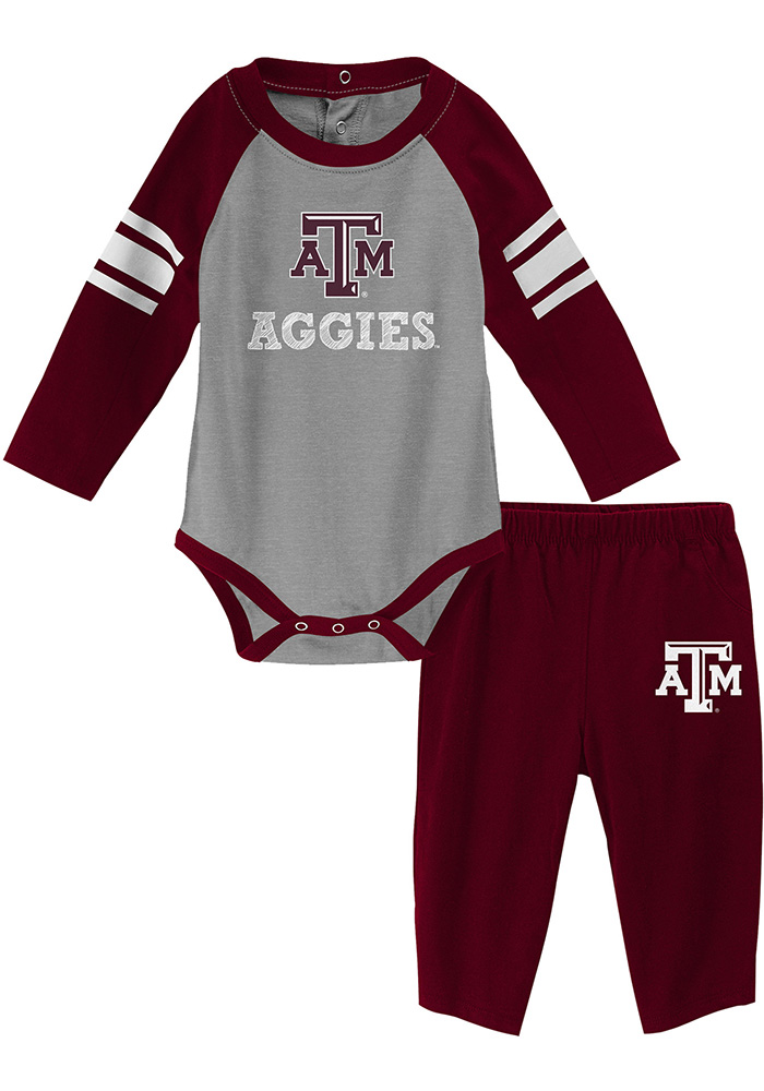 Texas A&M Aggies Infant Maroon Future Starter Set Top and Bottom - Image 1