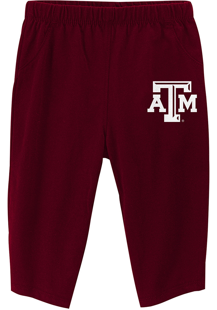 Texas A&M Aggies Infant Maroon Future Starter Set Top and Bottom - Image 4