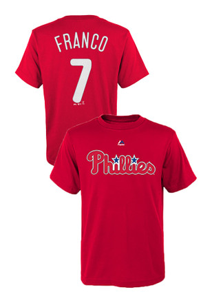 Maikel Franco Outer Stuff Philadelphia Phillies Kids Name and Number Red Player Tee