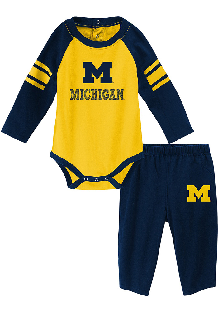 Michigan Wolverines Infant Navy Blue Future Starter Top and Bottom b567d6575ff1