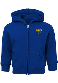 St Louis Blues Toddler Enforcer Full Zip Sweatshirt - Blue