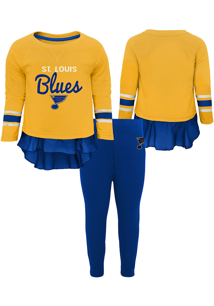St Louis Blues Toddler Girls Show Off Top and Bottom Set Blue - Image 1