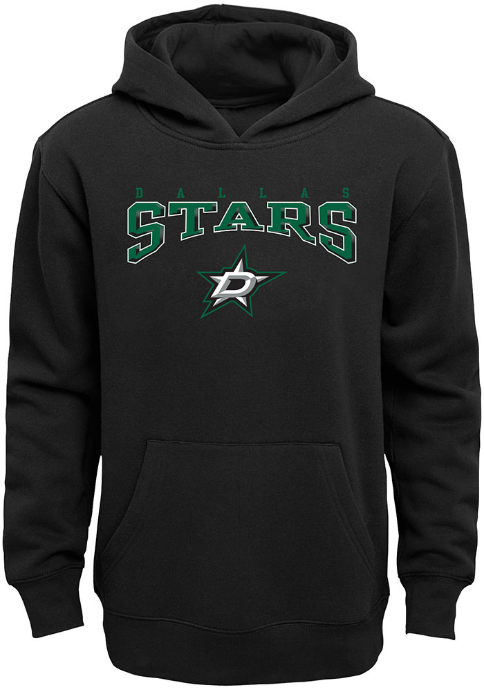 Dallas Stars Youth Black Fadeout Long Sleeve Hoodie - Image 1