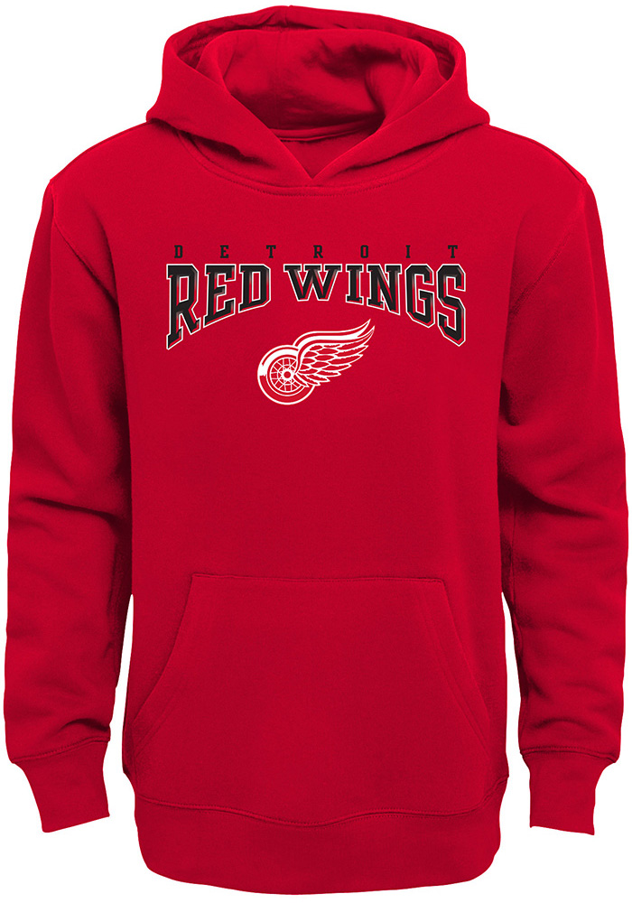 Detroit Red Wings Youth Red Fadeout Long Sleeve Hoodie - Image 1