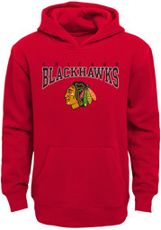 Chicago Blackhawks Youth Fadeout Hooded Sweatshirt - Red