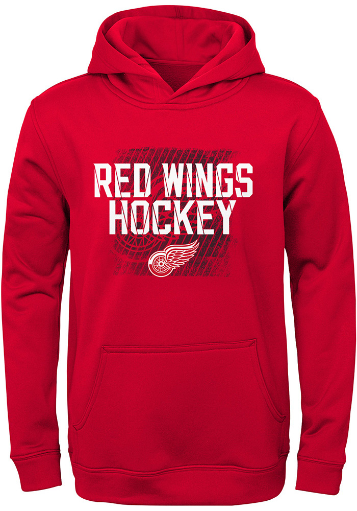 Detroit Red Wings Youth Red Attitude Long Sleeve Hoodie - Image 1