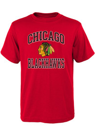 Chicago Blackhawks Youth Ovation T-Shirt - Red