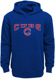 Chicago Cubs Youth Fadeout Hooded Sweatshirt - Blue