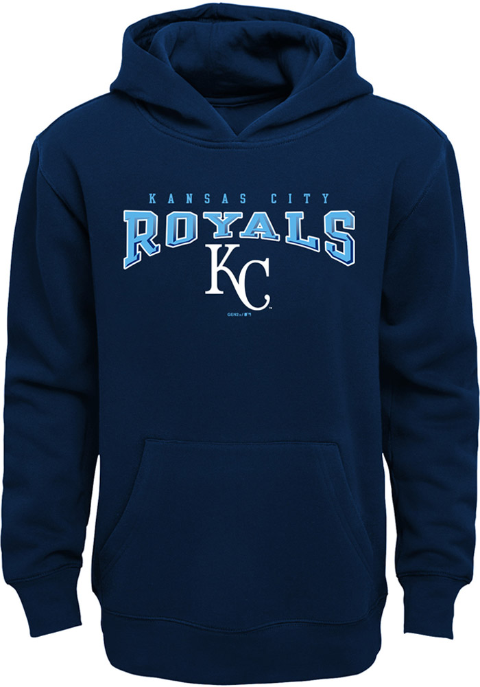 Kansas City Royals Youth Navy Blue Fadeout Long Sleeve Hoodie - Image 1