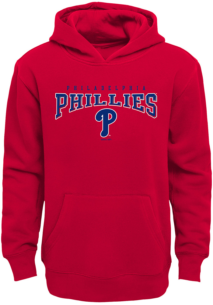 Philadelphia Phillies Youth Red Fadeout Long Sleeve Hoodie - Image 1