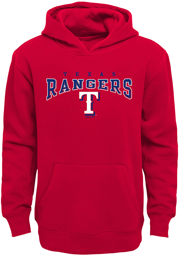Texas Rangers Youth Red Fadeout Long Sleeve Hoodie - Image 1