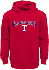 Texas Rangers Youth Fadeout Hooded Sweatshirt - Red