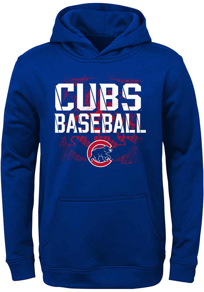 Chicago Cubs Youth Blue Attitude Long Sleeve Hoodie - Image 1