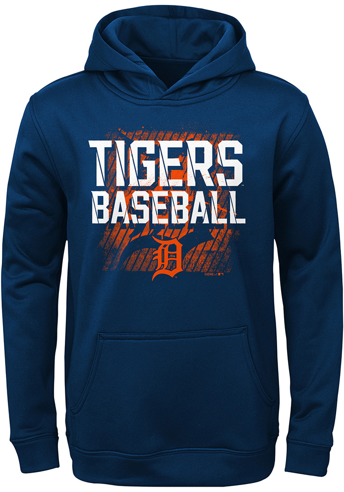 cheap for discount 6c73d f69f8 Detroit Tigers Youth Navy Blue Attitude Long Sleeve Hoodie