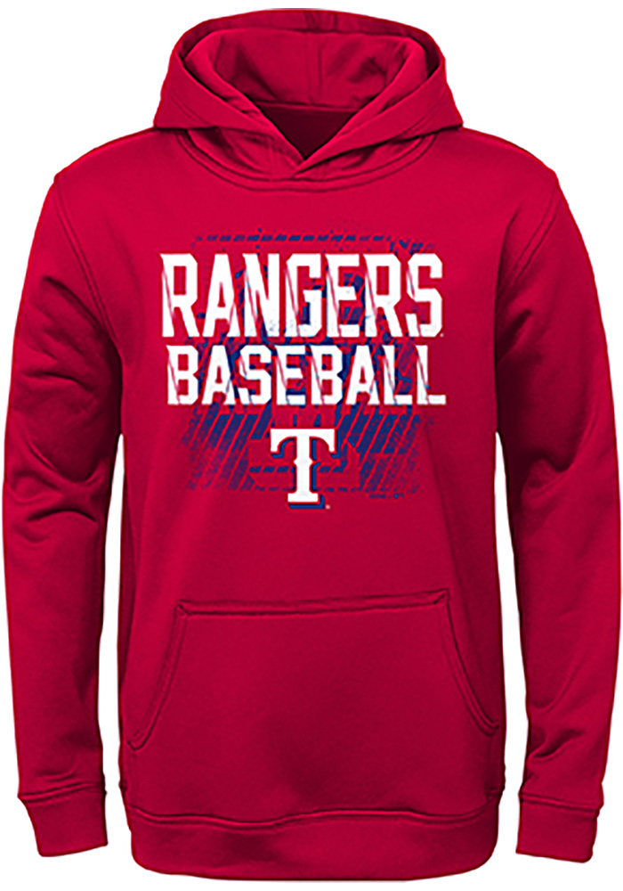 Texas Rangers Youth Red Attitude Long Sleeve Hoodie - Image 1