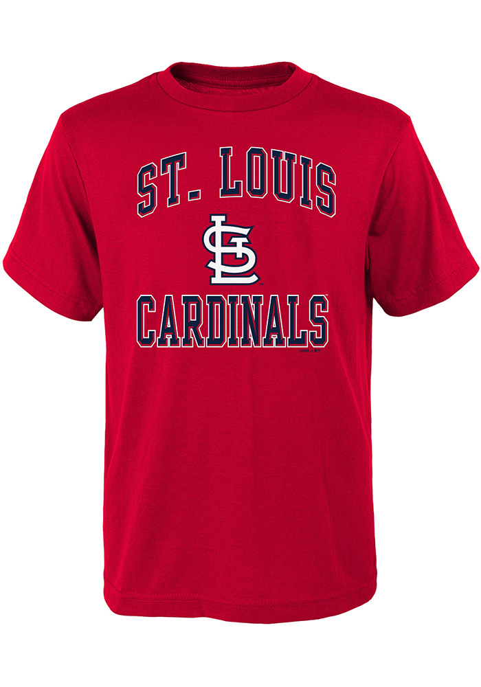 St Louis Cardinals Youth Red Ovation Short Sleeve T-Shirt - Image 1
