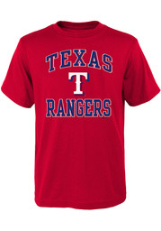 Texas Rangers Youth Ovation T-Shirt - Red