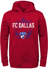 83e23d3d8 FC Dallas Youth Red Attitude Hooded Sweatshirt