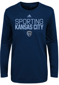 Sporting Kansas City Boys Locker Stacked T-Shirt - Navy Blue