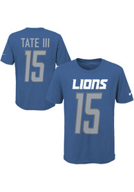 3db86d02 Golden Tate Outer Stuff Detroit Lions Youth Player Pride 3.0 Blue Player Tee