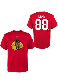Patrick Kane Chicago Blackhawks Youth Name and Number T-Shirt - Red