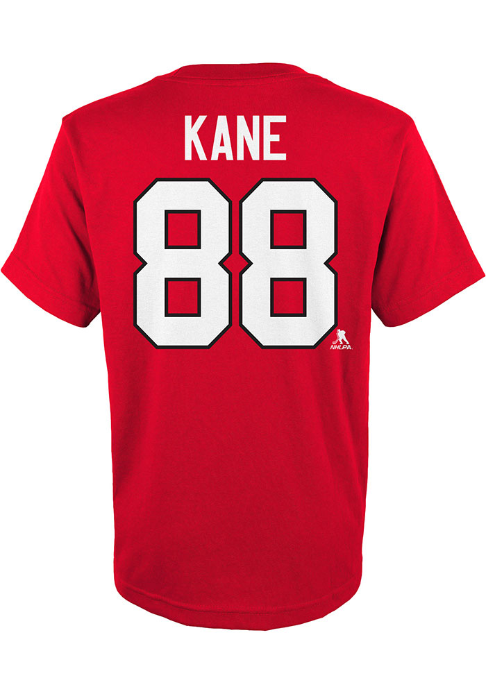 Patrick Kane Chicago Blackhawks Youth Red Name and Number Player Tee - Image 2