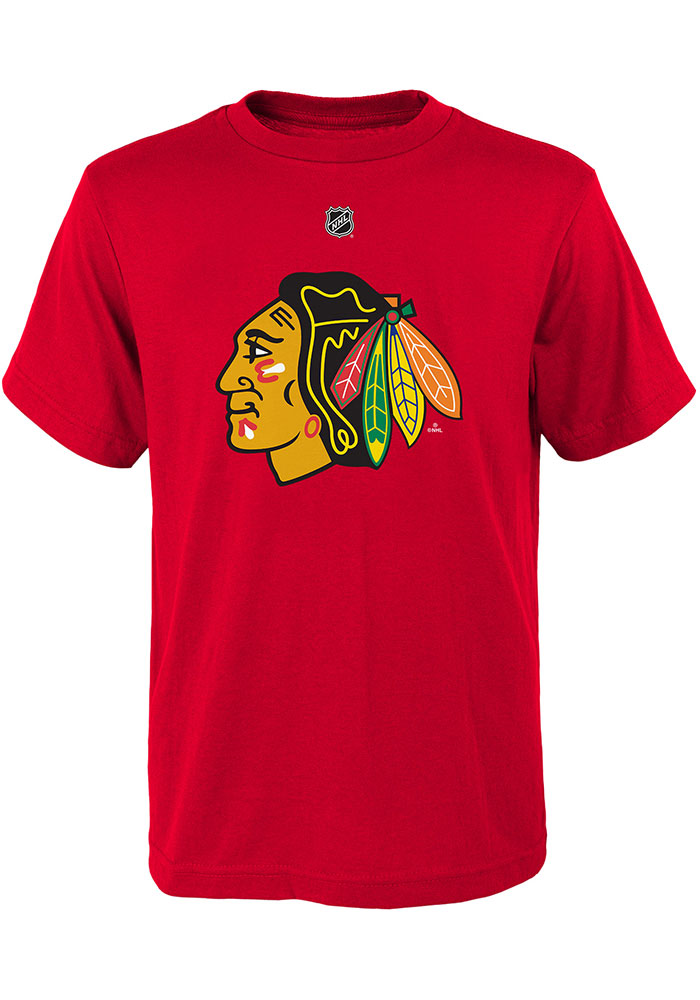 Patrick Kane Chicago Blackhawks Youth Red Name and Number Player Tee - Image 3