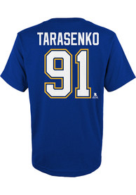 Vladimir Tarasenko St Louis Blues Youth Name and Number T-Shirt - Blue
