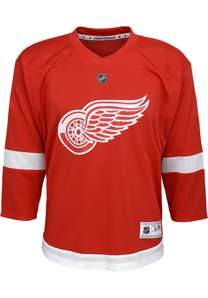 Dylan Larkin Outer Stuff Detroit Red Wings Youth Red Replica Hockey Jersey - Image 2