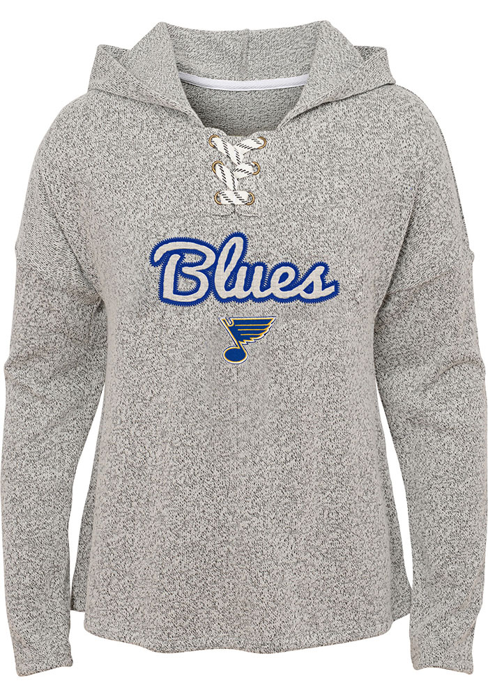 St Louis Blues Girls Blue Zenith Long Sleeve Hooded Sweatshirt - Image 1