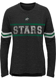 Dallas Stars Girls Pacesetter Long Sleeve T-shirt - Black