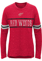 Detroit Red Wings Girls Red Pacesetter Long Sleeve T-shirt