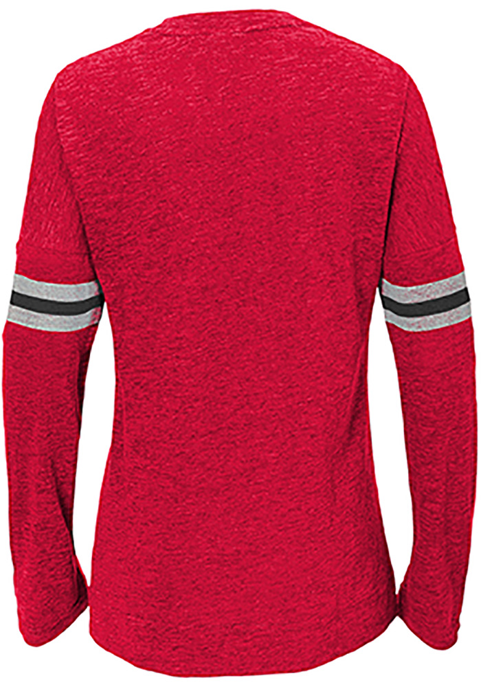 Detroit Red Wings Girls Red Pacesetter Long Sleeve T-shirt - Image 2