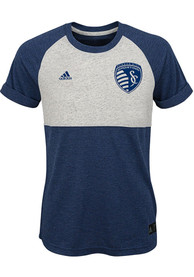Sporting Kansas City Girls Navy Blue Club Top Fashion T-Shirt