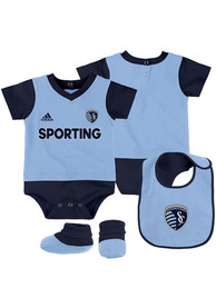 Sporting Kansas City Baby Volley One Piece with Bib - Light Blue