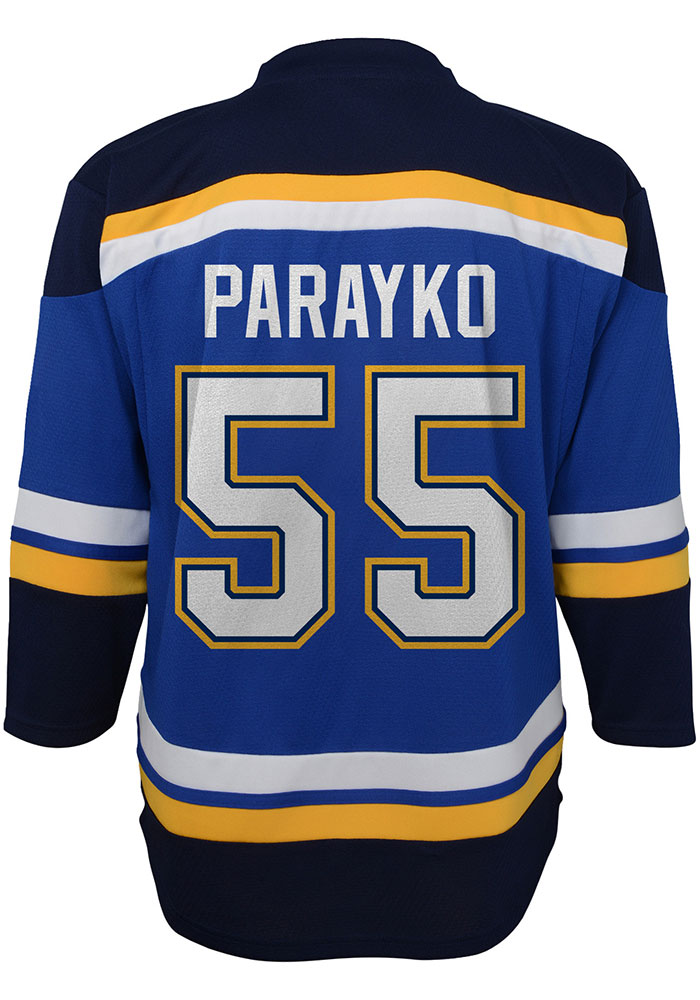 Colton Parayko Outer Stuff St Louis Blues Youth Blue Replica Hockey Jersey - Image 1
