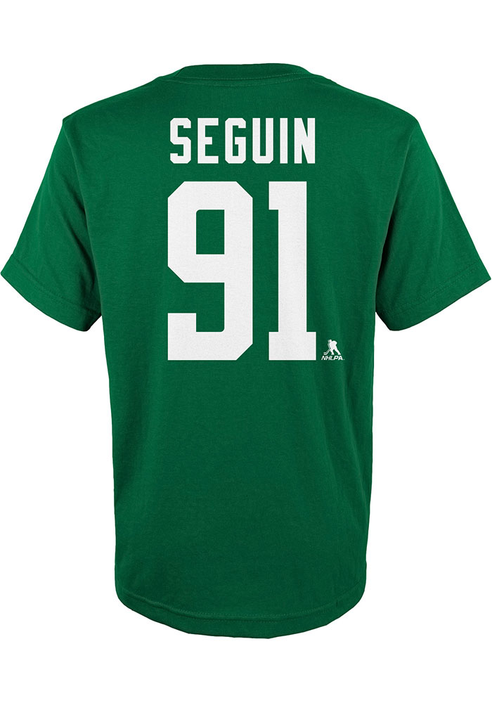 Tyler Seguin Dallas Stars Youth Green Name and Number Player Tee - Image 2